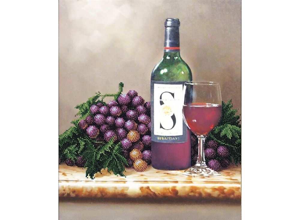Набор вышивки бисером «Молодое вино»Вышивка бисером Магия канвы<br><br><br>Артикул: Б-092<br>Основа: ткань<br>Размер: 30,5х37 см<br>Техника вышивки: бисер<br>Тип схемы вышивки: Цветная схема<br>Заполнение: Частичное<br>Рисунок на канве: нанесён рисунок<br>Техника: Вышивка бисером
