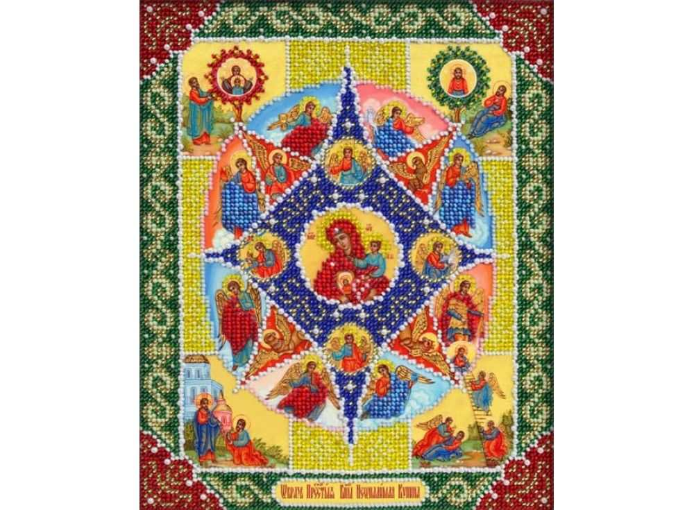 Набор вышивки бисером «Богородица Неопалимая купина»Вышивка бисером Паутинка<br><br><br>Артикул: Б-1041<br>Основа: льняная ткань<br>Размер: 20х25 см<br>Техника вышивки: бисер<br>Тип схемы вышивки: Цветная схема<br>Количество цветов: 14<br>Заполнение: Частичное<br>Рисунок на канве: нанесён рисунок<br>Техника: Вышивка бисером
