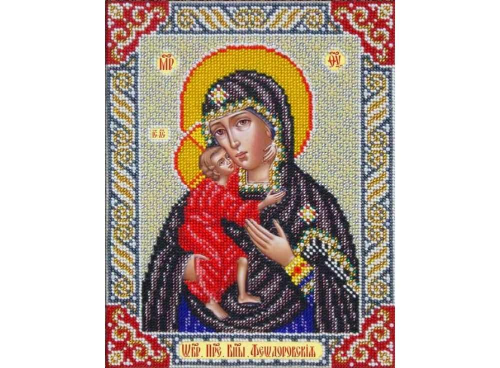 Набор вышивки бисером «Богородица Феодоровская»Вышивка бисером<br><br>