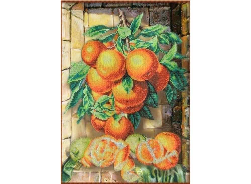Набор вышивки бисером «Апельсины»Вышивка бисером Паутинка<br><br><br>Артикул: Б-1220<br>Основа: льняная ткань<br>Размер: 38х26,5 см<br>Техника вышивки: бисер<br>Тип схемы вышивки: Цветная схема<br>Количество цветов: 19<br>Заполнение: Частичное<br>Рисунок на канве: нанесён рисунок<br>Техника: Вышивка бисером