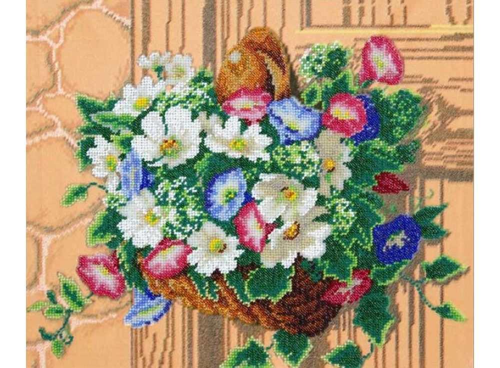 Набор вышивки бисером «Корзина вьюнков»