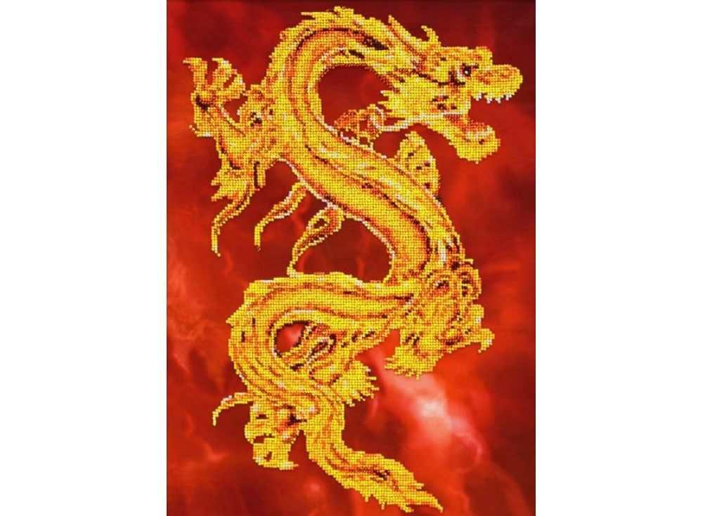 Набор вышивки бисером «Восточный дракон»Вышивка бисером Паутинка<br><br><br>Артикул: Б-1457<br>Основа: льняная ткань<br>Размер: 28х39 см<br>Техника вышивки: бисер<br>Тип схемы вышивки: Цветная схема<br>Количество цветов: 7<br>Заполнение: Частичное<br>Рисунок на канве: нанесён рисунок<br>Техника: Вышивка бисером