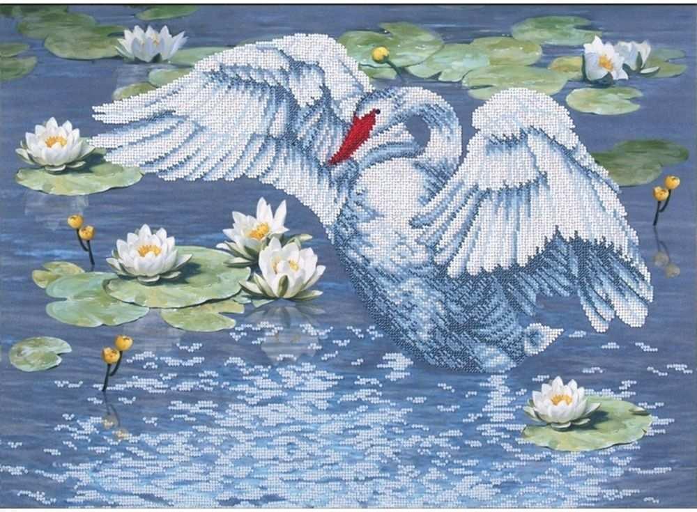 Набор вышивки бисером «Райское озеро»Вышивка бисером Магия канвы<br><br><br>Артикул: Б-175<br>Основа: ткань<br>Размер: 49,5х36 см<br>Техника вышивки: бисер<br>Тип схемы вышивки: Цветная схема<br>Заполнение: Частичное<br>Рисунок на канве: нанесён рисунок<br>Техника: Вышивка бисером