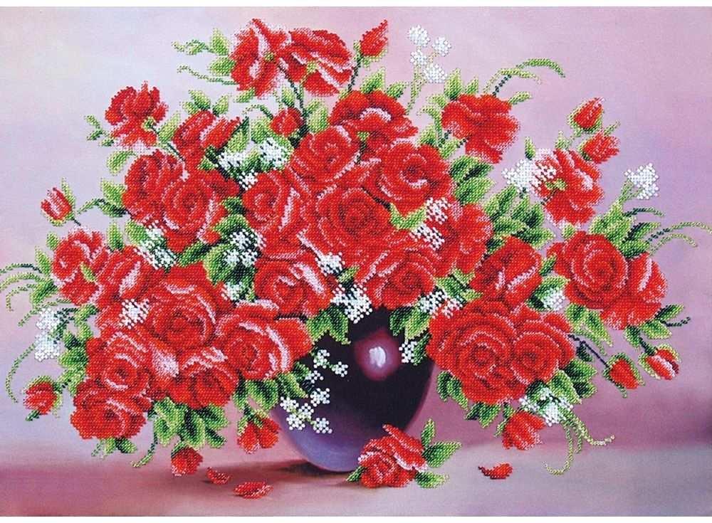 Набор вышивки бисером «Миллион алых роз»Вышивка бисером<br><br>