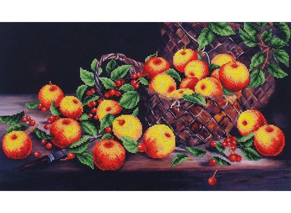 Набор вышивки бисером «Яблочный спас»Вышивка бисером Магия канвы<br><br>