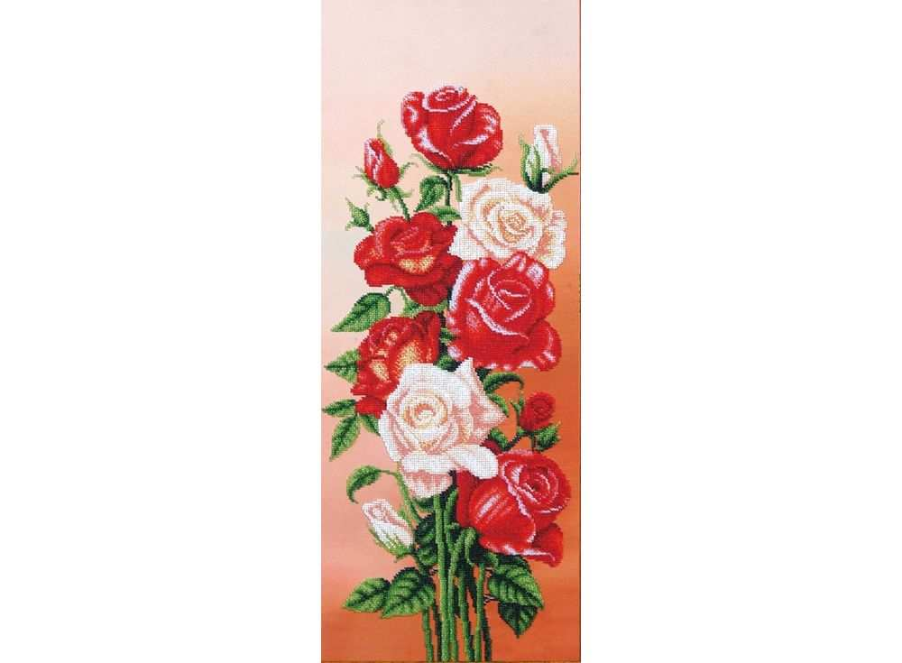 Набор вышивки бисером «Вдохновение. Розы»Вышивка бисером Маги канвы<br><br><br>Артикул: Б-292<br>Основа: ткань<br>Размер: 25х61 см<br>Техника вышивки: бисер<br>Тип схемы вышивки: Цветна схема<br>Заполнение: Частичное<br>Рисунок на канве: нанесён рисунок<br>Техника: Вышивка бисером