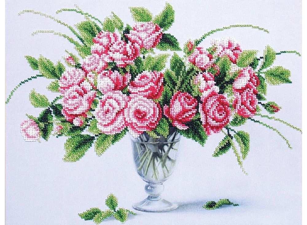 Набор вышивки бисером «Чайные розы»Вышивка бисером Магия канвы<br><br><br>Артикул: Б-301<br>Основа: ткань<br>Размер: 35х27 см<br>Техника вышивки: бисер<br>Тип схемы вышивки: Цветная схема<br>Заполнение: Частичное<br>Рисунок на канве: нанесён рисунок<br>Техника: Вышивка бисером