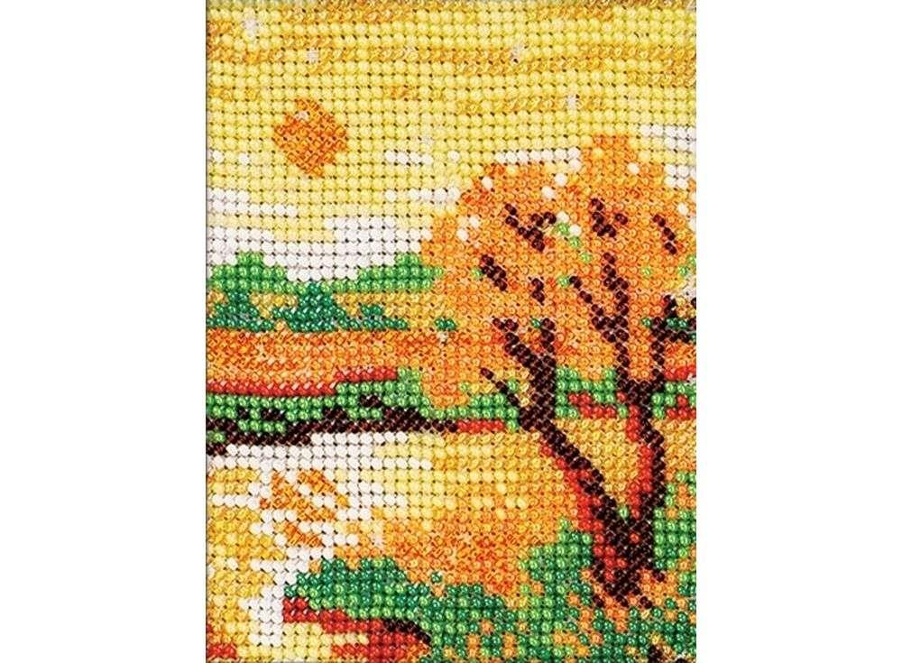 Набор вышивки бисером «Осенний вечер»Вышивка бисером Кроше (Радуга бисера)<br><br><br>Артикул: В-017<br>Основа: канва Aida 14<br>Размер: 10x13 см<br>Техника вышивки: бисер<br>Тип схемы вышивки: Цветная схема<br>Цвет канвы: Белый<br>Заполнение: Полное<br>Рисунок на канве: нанесён рисунок и схема<br>Техника: Вышивка бисером