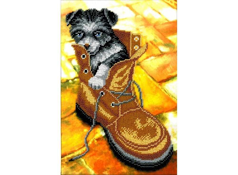 Набор вышивки бисером «Лайчонок»Вышивка бисером Вышиваем бисером<br><br><br>Артикул: В-113<br>Основа: ткань<br>Размер: 19х27 см<br>Техника вышивки: бисер<br>Тип схемы вышивки: Цветная схема<br>Рисунок на канве: нанесена схема<br>Техника: Вышивка бисером
