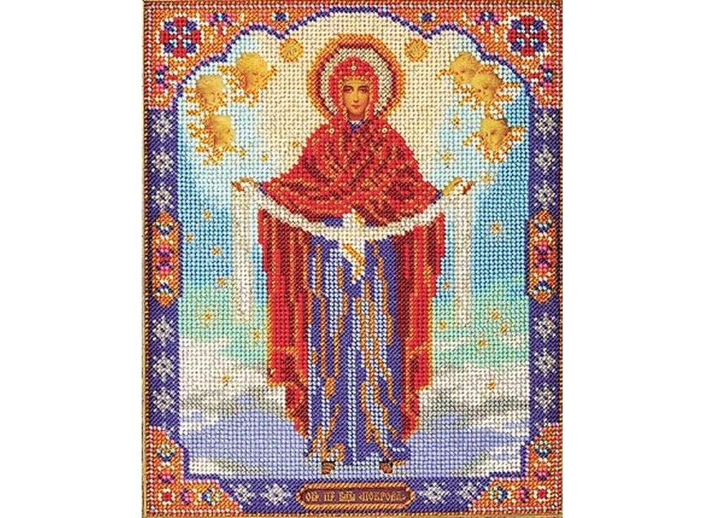 Набор вышивки бисером «Покров Пресвятой Богородицы»Вышивка бисером Кроше (Радуга бисера)<br><br>
