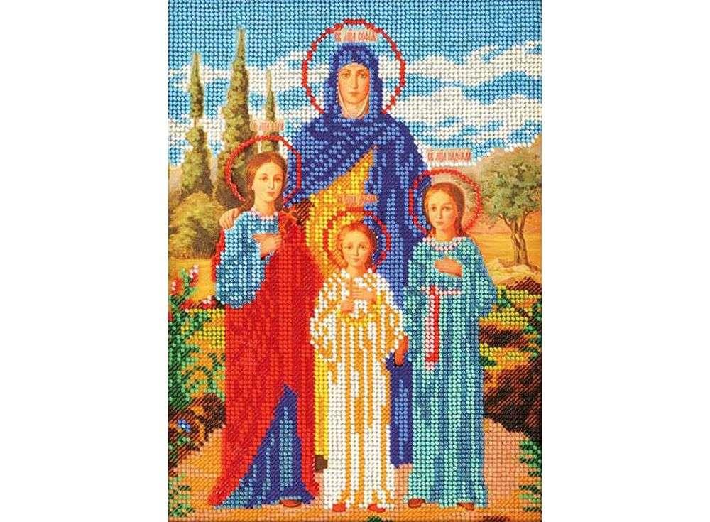 Набор вышивки бисером «Святые Вера, Надежда, Любовь и Софья»