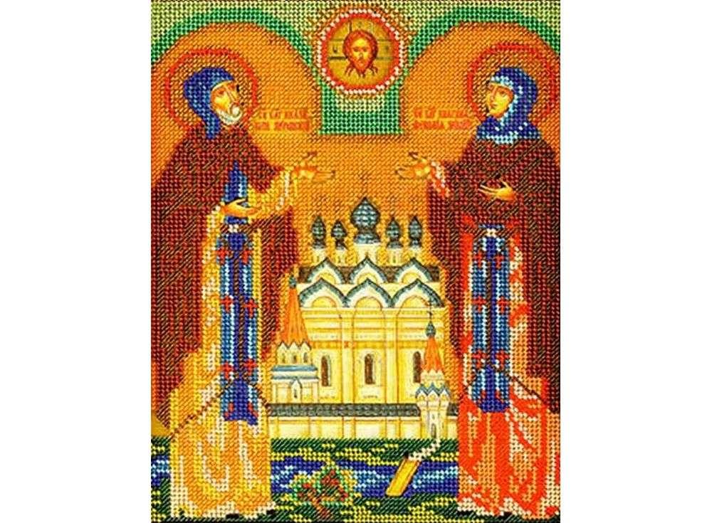 Набор вышивки бисером «Святые Петр и Феврония»