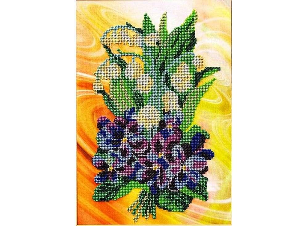 Набор вышивки бисером «Весенний салют»Вышивка бисером Кроше (Радуга бисера)<br><br><br>Артикул: В-222<br>Основа: ткань<br>Размер: 27х35 см<br>Техника вышивки: бисер<br>Тип схемы вышивки: Цветная схема<br>Заполнение: Частичное<br>Рисунок на канве: нанесён рисунок и схема<br>Техника: Вышивка бисером