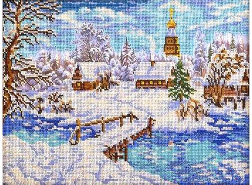 Набор вышивки бисером «Рождественская сказка»Вышивка бисером Кроше (Радуга бисера)<br><br><br>Артикул: В-240<br>Основа: Ткань<br>Размер: 27х38 см<br>Техника вышивки: бисер<br>Тип схемы вышивки: Цветная схема вышивки<br>Заполнение: Частичное