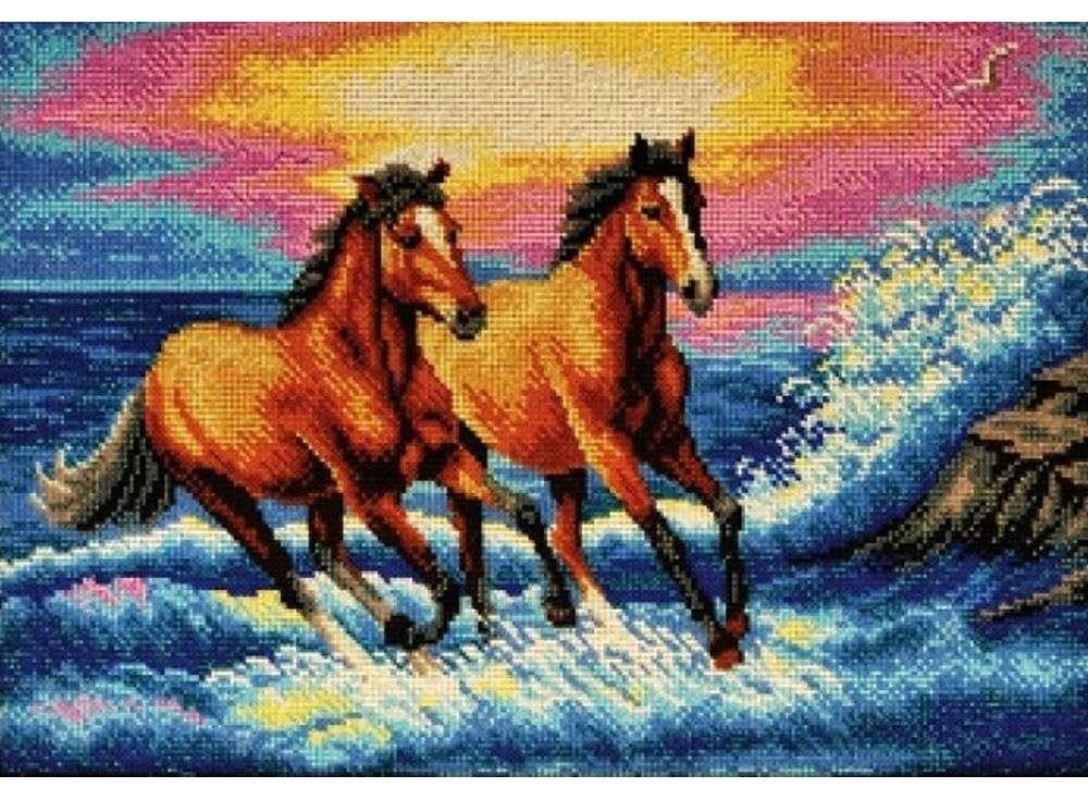 Набор вышивки бисером «Брызги моря»Вышивка бисером Кроше (Радуга бисера)<br><br><br>Артикул: В-263<br>Основа: ткань<br>Размер: 38x27 см<br>Техника вышивки: бисер<br>Тип схемы вышивки: Цветная схема<br>Заполнение: Полное<br>Рисунок на канве: нанесён рисунок и схема<br>Техника: Вышивка бисером
