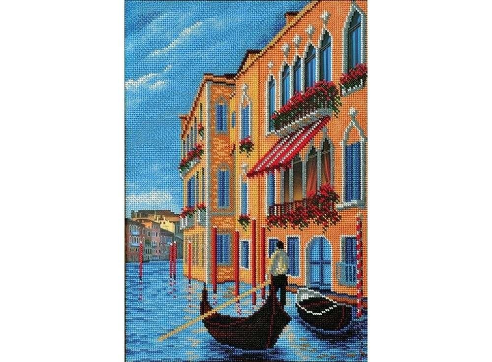 Набор вышивки бисером «Гранд Канал. Венеция»Вышивка бисером Кроше (Радуга бисера)<br><br><br>Артикул: В-268<br>Основа: ткань<br>Размер: 26х38 см<br>Техника вышивки: бисер<br>Тип схемы вышивки: Цветная схема<br>Заполнение: Частичное<br>Рисунок на канве: нанесён рисунок и схема<br>Техника: Вышивка бисером