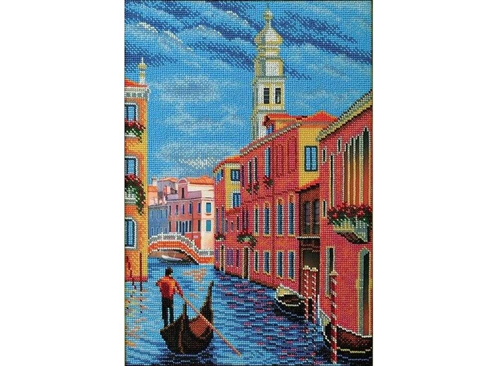 Набор вышивки бисером «Колокольня Сан Марко. Венеция»Вышивка бисером Кроше (Радуга бисера)<br><br><br>Артикул: В-269<br>Основа: ткань<br>Размер: 26х38 см<br>Техника вышивки: бисер<br>Тип схемы вышивки: Цветная схема<br>Заполнение: Частичное<br>Рисунок на канве: нанесён рисунок и схема<br>Техника: Вышивка бисером