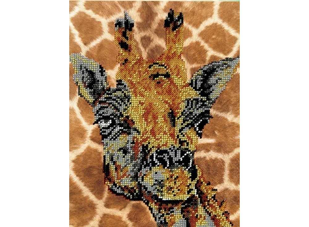 Набор вышивки бисером «Жираф»Вышивка бисером Вышиваем бисером<br><br><br>Артикул: В-27<br>Основа: ткань<br>Размер: 19х25 см<br>Техника вышивки: бисер<br>Тип схемы вышивки: Цветная схема<br>Рисунок на канве: нанесена схема<br>Техника: Вышивка бисером