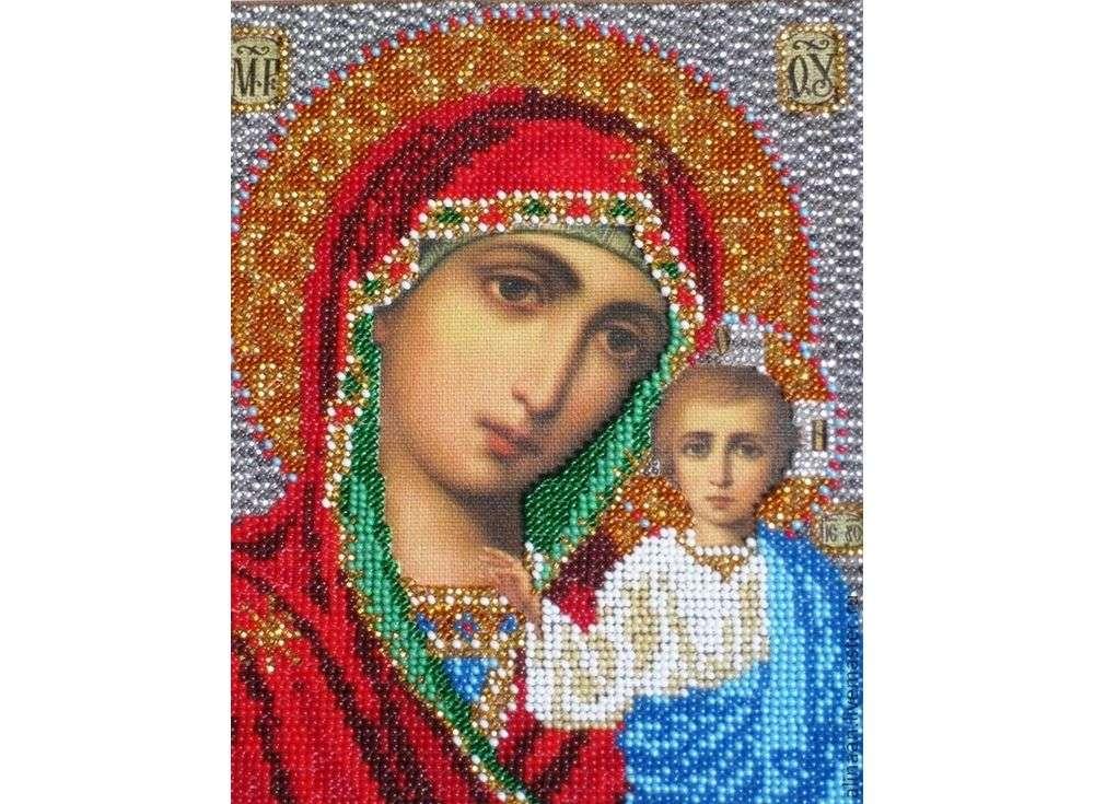 Набор вышивки бисером «Казанская Богородица»Вышивка бисером Кроше (Радуга бисера)<br><br>