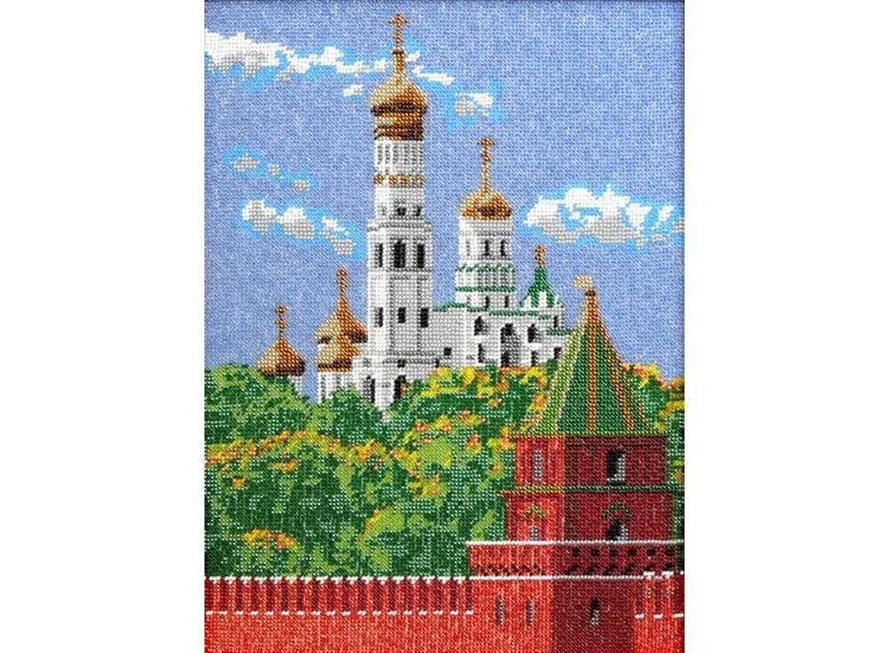 Набор вышивки бисером «Московский Кремль»Вышивка бисером Вышиваем бисером<br><br><br>Артикул: В-35<br>Основа: ткань<br>Размер: 26х35 см<br>Техника вышивки: бисер<br>Тип схемы вышивки: Цветная схема<br>Рисунок на канве: нанесена схема<br>Техника: Вышивка бисером