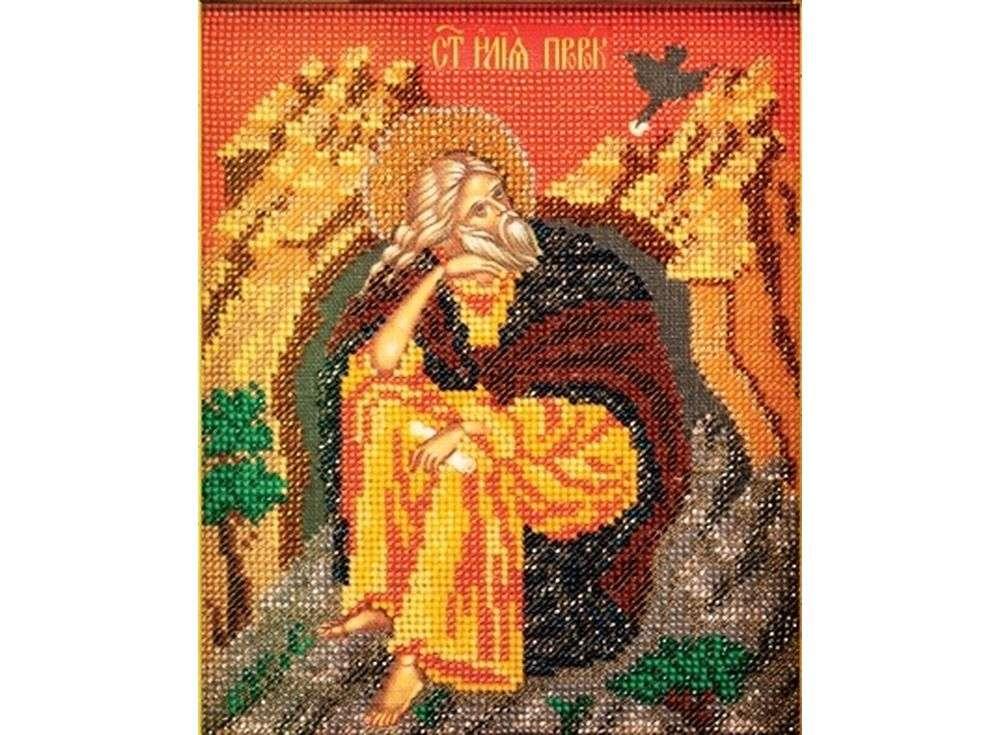 Набор вышивки бисером «Святой Илья»Вышивка бисером Кроше (Радуга бисера)<br><br><br>Артикул: В-355<br>Основа: ткань<br>Размер: 12х14,5 см<br>Техника вышивки: бисер<br>Тип схемы вышивки: Цветная схема<br>Заполнение: Частичное<br>Рисунок на канве: нанесён рисунок и схема<br>Техника: Вышивка бисером