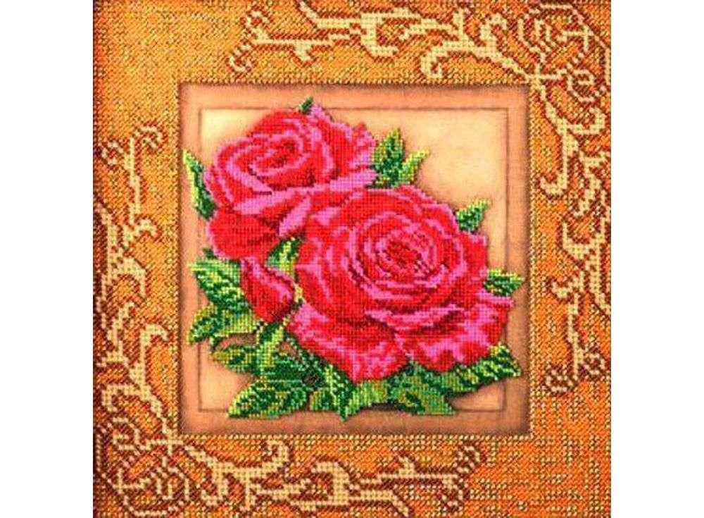 Набор вышивки бисером «Роскошные розы»Вышивка бисером Кроше (Радуга бисера)<br><br><br>Артикул: В-411<br>Основа: ткань<br>Размер: 20,5x20,5 см<br>Техника вышивки: бисер<br>Тип схемы вышивки: Цветная схема<br>Заполнение: Частичное<br>Рисунок на канве: нанесён рисунок и схема<br>Техника: Вышивка бисером