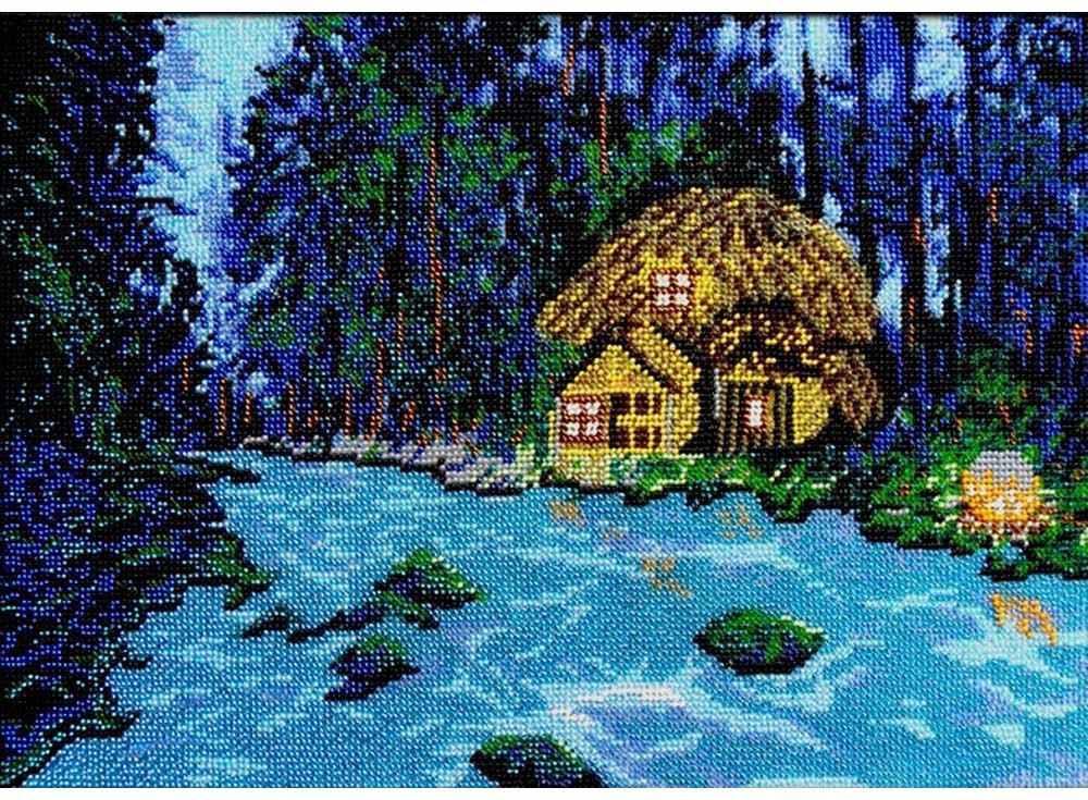 Набор вышивки бисером «Волшебный лес»Вышивка бисером Вышиваем бисером<br><br><br>Артикул: В-45<br>Основа: ткань<br>Размер: 25,6х36,5 см<br>Техника вышивки: бисер<br>Тип схемы вышивки: Цветная схема<br>Рисунок на канве: нанесена схема<br>Техника: Вышивка бисером