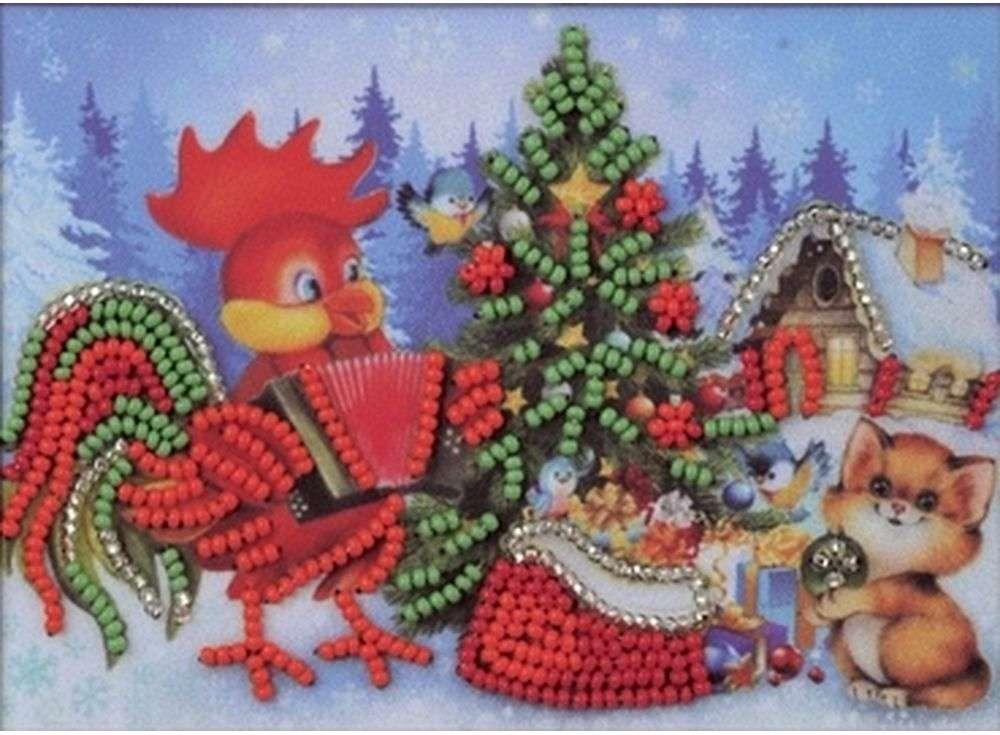 Набор вышивки бисером «Новогодняя ёлочка»Вышивка бисером Кроше (Радуга бисера)<br><br><br>Артикул: В-525<br>Основа: Ткань<br>Размер: 15х10 см<br>Техника вышивки: бисер<br>Тип схемы вышивки: Цветная схема вышивки<br>Заполнение: Частичное