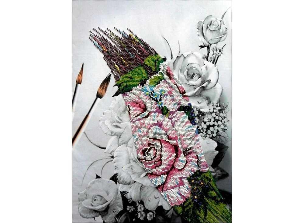 Набор вышивки бисером «Розы»Вышивка бисером Вышиваем бисером<br><br><br>Артикул: В-56<br>Основа: ткань<br>Размер: 27х37 см<br>Техника вышивки: вышивка бисером по кривой<br>Тип схемы вышивки: Цветная схема<br>Рисунок на канве: нанесена схема<br>Техника: Вышивка бисером