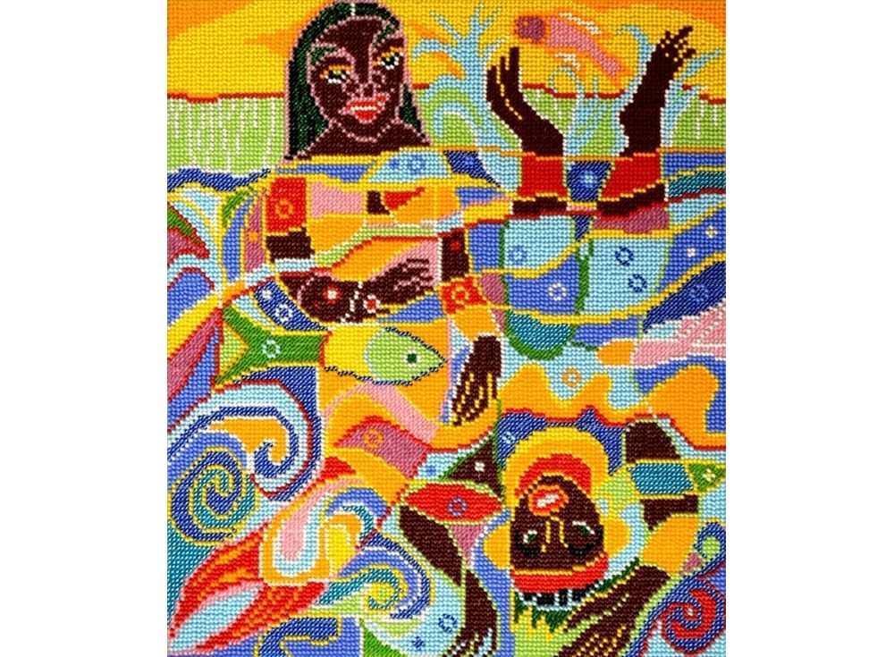 Набор вышивки бисером «Морской мир»Вышивка бисером Вышиваем бисером<br><br><br>Артикул: В-73<br>Основа: ткань<br>Размер: 26,5х31,2 см<br>Техника вышивки: бисер<br>Тип схемы вышивки: Цветная схема<br>Рисунок на канве: нанесена схема<br>Техника: Вышивка бисером