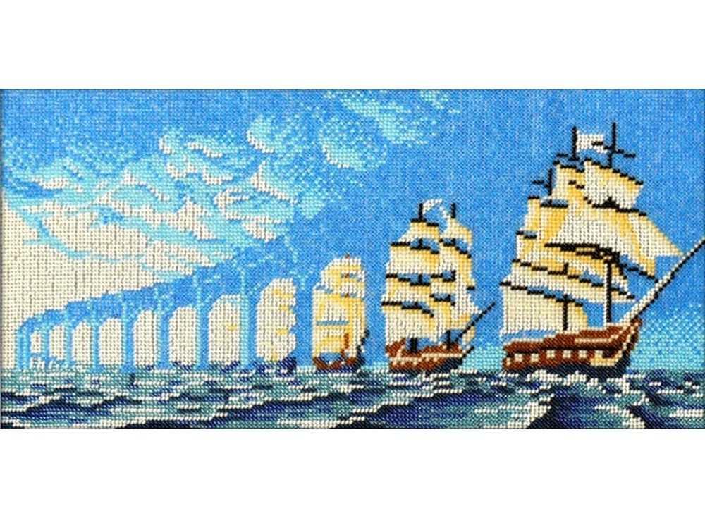 Набор вышивки бисером «Иллюзия парусники»Вышивка бисером Вышиваем бисером<br><br><br>Артикул: В-76<br>Основа: ткань<br>Размер: 18х38 см<br>Техника вышивки: бисер<br>Тип схемы вышивки: Цветная схема<br>Рисунок на канве: нанесена схема<br>Техника: Вышивка бисером