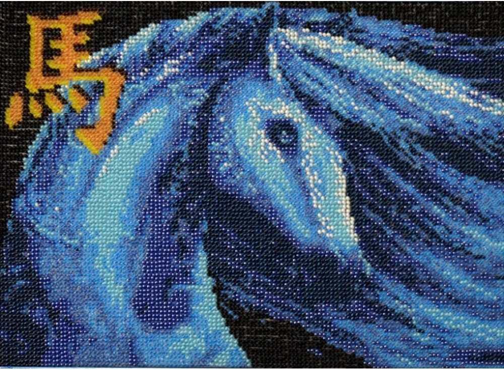 Набор вышивки бисером «Синяя лошадь»Вышивка бисером Вышиваем бисером<br><br><br>Артикул: В-77<br>Основа: ткань<br>Размер: 18,7х27 см<br>Техника вышивки: бисер<br>Тип схемы вышивки: Цветная схема<br>Рисунок на канве: нанесена схема<br>Техника: Вышивка бисером