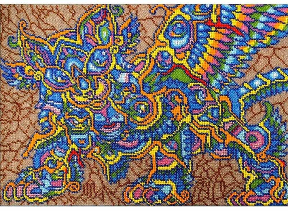 Набор вышивки бисером «Кот Баюн»Вышивка бисером Вышиваем бисером<br><br><br>Артикул: В-79<br>Основа: ткань<br>Размер: 26х37 см<br>Техника вышивки: бисер<br>Тип схемы вышивки: Цветная схема<br>Рисунок на канве: нанесена схема<br>Техника: Вышивка бисером