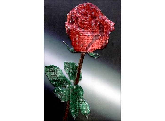 Набор вышивки бисером «Роза»Вышивка бисером Вышиваем бисером<br><br><br>Артикул: В-8<br>Основа: ткань для вышивки бисером с нанесенной схемой<br>Размер: 17х26 см<br>Техника вышивки: бисер<br>Тип схемы вышивки: Цветная схема вышивки