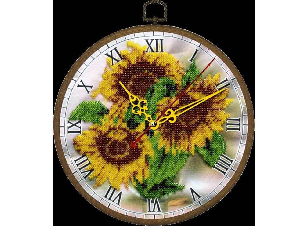 Набор вышивки бисером «Часы. Желтое настроение»Вышивка часов Вышиваем бисером<br><br><br>Артикул: В-86<br>Основа: ткань<br>Размер: диаметр 18 см<br>Техника вышивки: бисер<br>Тип схемы вышивки: Цветная схема<br>Рисунок на канве: нанесена схема<br>Техника: Вышивка часов