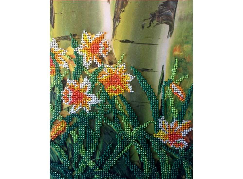 Набор вышивки бисером «Нарциссы»Вышивка бисером FeDi<br><br><br>Артикул: КВ213<br>Основа: ткань<br>Размер: 18x23,5 см<br>Техника вышивки: бисер<br>Тип схемы вышивки: Цветная схема<br>Количество цветов: 7<br>Заполнение: Частичное<br>Рисунок на канве: нанесён рисунок и схема<br>Техника: Вышивка бисером