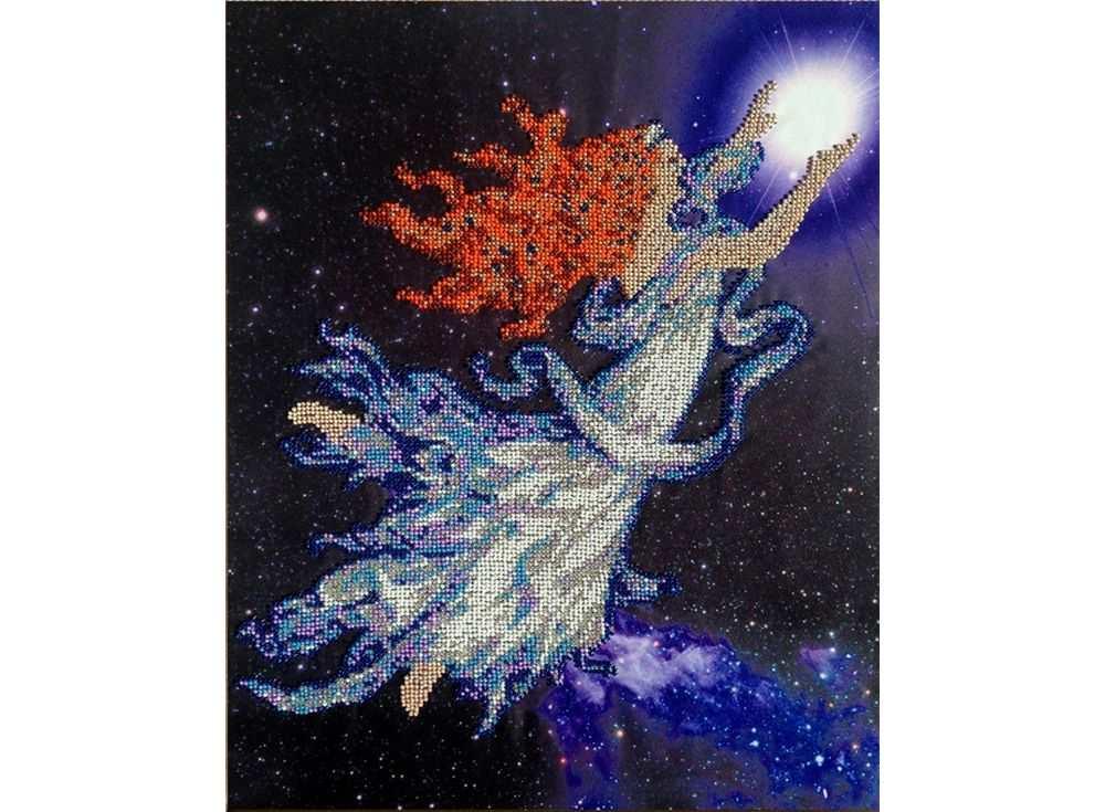 Набор вышивки бисером «Галактика»Вышивка бисером FeDi<br><br><br>Артикул: КВ612<br>Основа: ткань<br>Размер: 33х42 см<br>Техника вышивки: бисер<br>Тип схемы вышивки: Цветная схема<br>Количество цветов: 11<br>Заполнение: Частичное<br>Рисунок на канве: нанесён рисунок и схема<br>Техника: Вышивка бисером