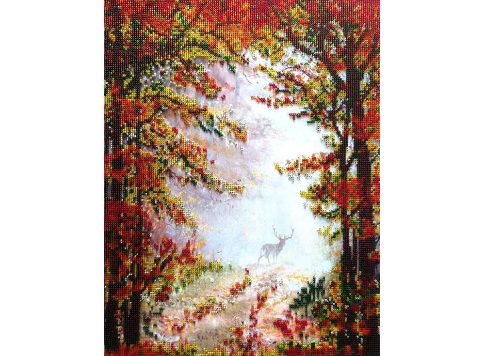 Набор вышивки бисером «Осень в лесу»Вышивка бисером FeDi<br><br><br>Артикул: КВ624<br>Основа: ткань<br>Размер: 32x41,5 см<br>Техника вышивки: бисер<br>Тип схемы вышивки: Цветная схема<br>Количество цветов: 8<br>Заполнение: Частичное<br>Рисунок на канве: нанесён рисунок и схема<br>Техника: Вышивка бисером