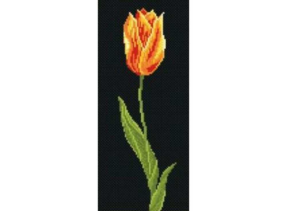 Набор для вышивания «Тюльпан»Вышивка крестом МП-студия<br><br><br>Артикул: НВ-028<br>Основа: канва Aida 14<br>Размер: 14x33 см<br>Техника вышивки: счетный крест<br>Тип схемы вышивки: Цветная схема<br>Цвет канвы: Черный<br>Количество цветов: 9<br>Рисунок на канве: не нанесён<br>Техника: Вышивка крестом