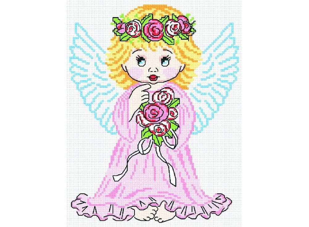Набор для вышивания «Ангел в розовом»Вышивка крестом МП-студия<br><br><br>Артикул: НВ-110<br>Основа: канва Aida 14<br>Размер: 20х27 см<br>Техника вышивки: счетный крест<br>Тип схемы вышивки: Цветная схема<br>Цвет канвы: Белый<br>Количество цветов: 11<br>Рисунок на канве: не нанесён<br>Техника: Вышивка крестом