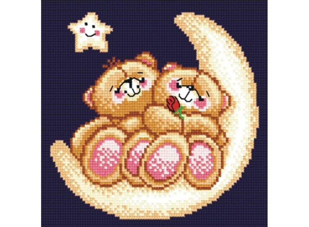 Набор для вышивания «Влюбленные мишки»Вышивка крестом МП-студия<br><br><br>Артикул: НВ-136<br>Основа: канва Aida 14<br>Размер: 18х18 см<br>Техника вышивки: счетный крест<br>Тип схемы вышивки: Цветная схема<br>Цвет канвы: Черный<br>Количество цветов: 11<br>Рисунок на канве: не нанесён<br>Техника: Вышивка крестом