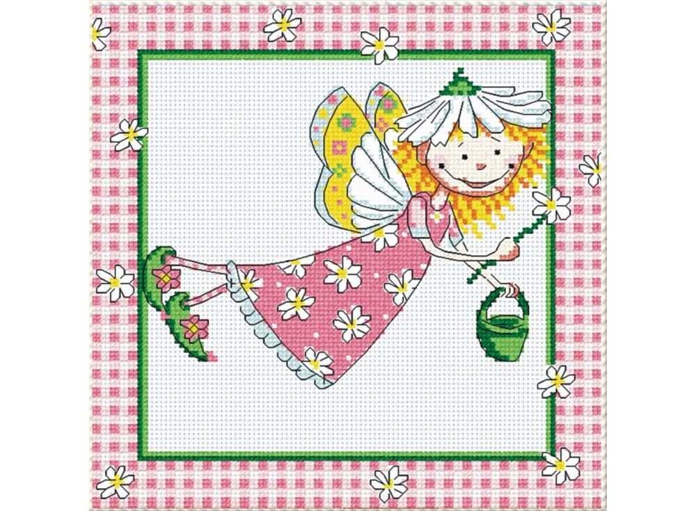Набор для вышивания «Ромашковая фея»Вышивка крестом МП-студия<br><br><br>Артикул: НВ-147<br>Основа: канва Aida 14<br>Размер: 20х20 см<br>Техника вышивки: счетный крест<br>Тип схемы вышивки: Цветная схема<br>Цвет канвы: Белый<br>Количество цветов: 11<br>Рисунок на канве: не нанесён<br>Техника: Вышивка крестом