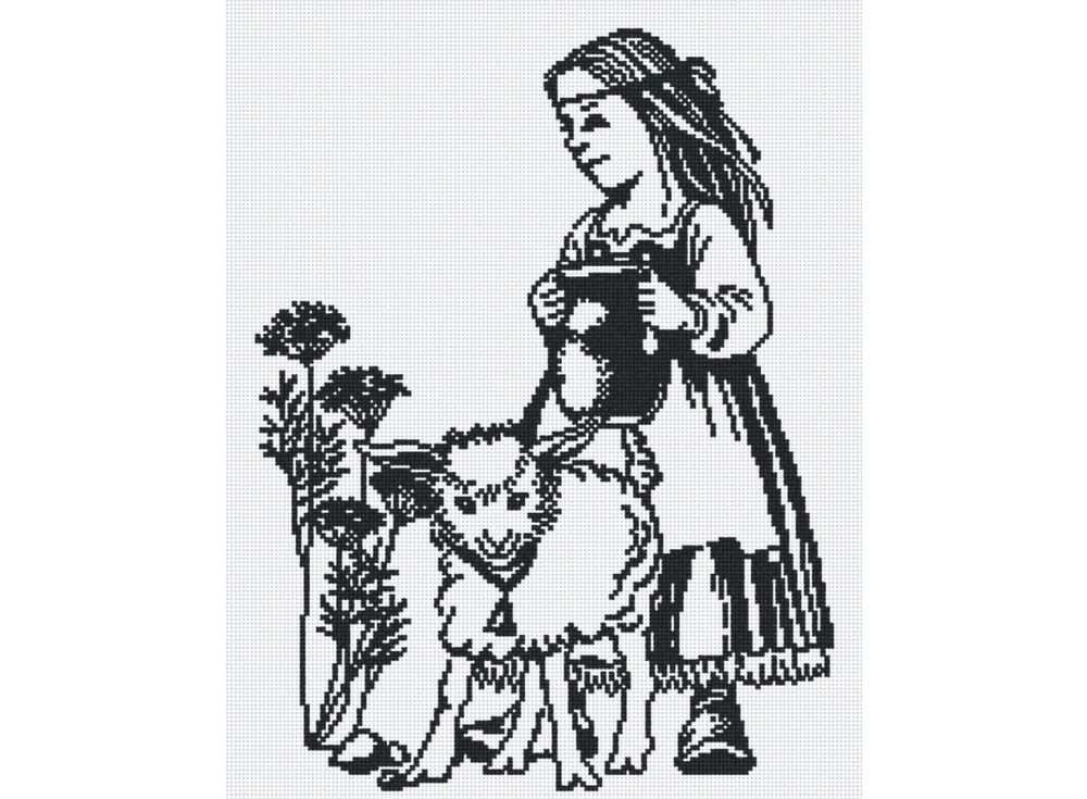 Набор для вышивания «Девочка с ягненком»Вышивка крестом МП-студия<br><br><br>Артикул: НВ-157<br>Основа: канва Aida 14<br>Размер: 30х38 см<br>Техника вышивки: счетный крест<br>Тип схемы вышивки: Цветная схема<br>Цвет канвы: Белый<br>Количество цветов: 1<br>Рисунок на канве: не нанесён<br>Техника: Вышивка крестом