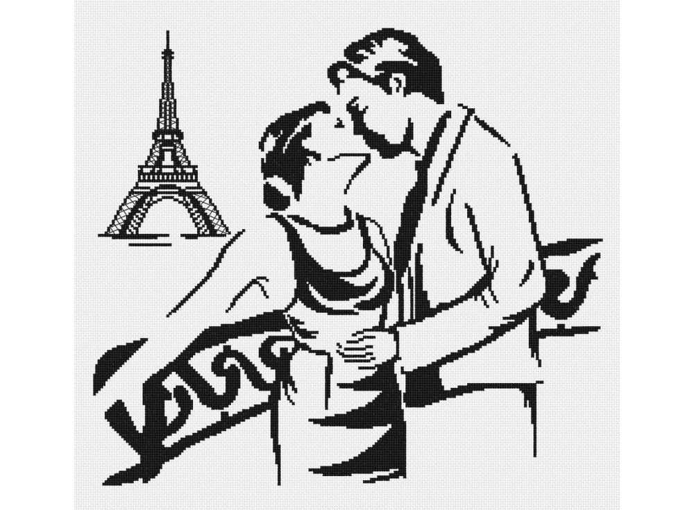 Набор для вышивания «Поцелуй в Париже»Вышивка крестом МП-студия<br><br><br>Артикул: НВ-160<br>Основа: канва Aida 14<br>Размер: 35х40 см<br>Техника вышивки: счетный крест<br>Тип схемы вышивки: Цветная схема<br>Цвет канвы: Белый<br>Количество цветов: 1<br>Рисунок на канве: не нанесён<br>Техника: Вышивка крестом