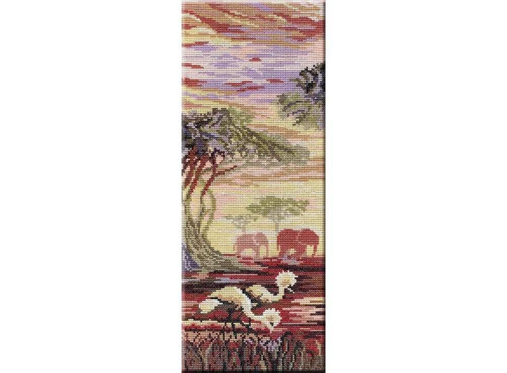Набор для вышивания «Триптих «Слоны» 1 часть»Вышивка крестом МП-студия<br><br><br>Артикул: НВ-194<br>Основа: канва Aida 14<br>Размер: 38x15 см<br>Техника вышивки: счетный крест<br>Тип схемы вышивки: Цветная схема<br>Цвет канвы: Белый<br>Количество цветов: 24<br>Рисунок на канве: не нанесён<br>Техника: Вышивка крестом