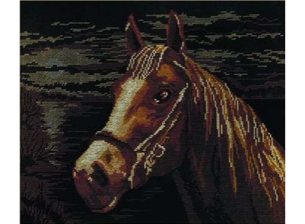 Набор для вышивания «Лошадь»Вышивка крестом МП-студия<br><br><br>Артикул: НВ-199<br>Основа: канва Aida 14<br>Размер: 25х33 см<br>Техника вышивки: счетный крест<br>Тип схемы вышивки: Цветная схема<br>Цвет канвы: Черный<br>Количество цветов: 8<br>Рисунок на канве: не нанесён<br>Техника: Вышивка крестом