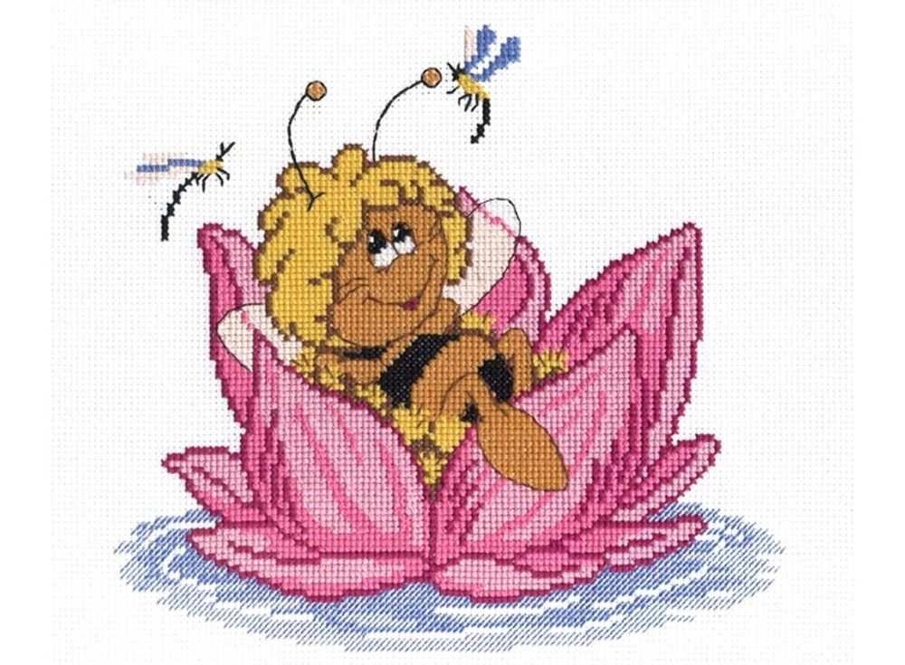 Набор для вышивания «Пчелка»Вышивка крестом МП-студия<br><br><br>Артикул: НВ-204<br>Основа: канва Aida 14<br>Размер: 22х24 см<br>Техника вышивки: счетный крест<br>Тип схемы вышивки: Цветная схема<br>Цвет канвы: Белый<br>Количество цветов: 10<br>Рисунок на канве: не нанесён<br>Техника: Вышивка крестом