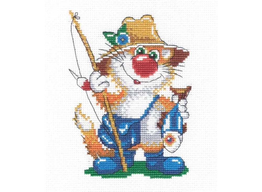 Набор для вышивания «Кот рыбак»Вышивка крестом МП-студия<br><br><br>Артикул: НВ-214<br>Основа: канва Aida 14<br>Размер: 18х14 см<br>Техника вышивки: счетный крест<br>Тип схемы вышивки: Цветная схема<br>Цвет канвы: Белый<br>Количество цветов: 12<br>Рисунок на канве: не нанесён<br>Техника: Вышивка крестом