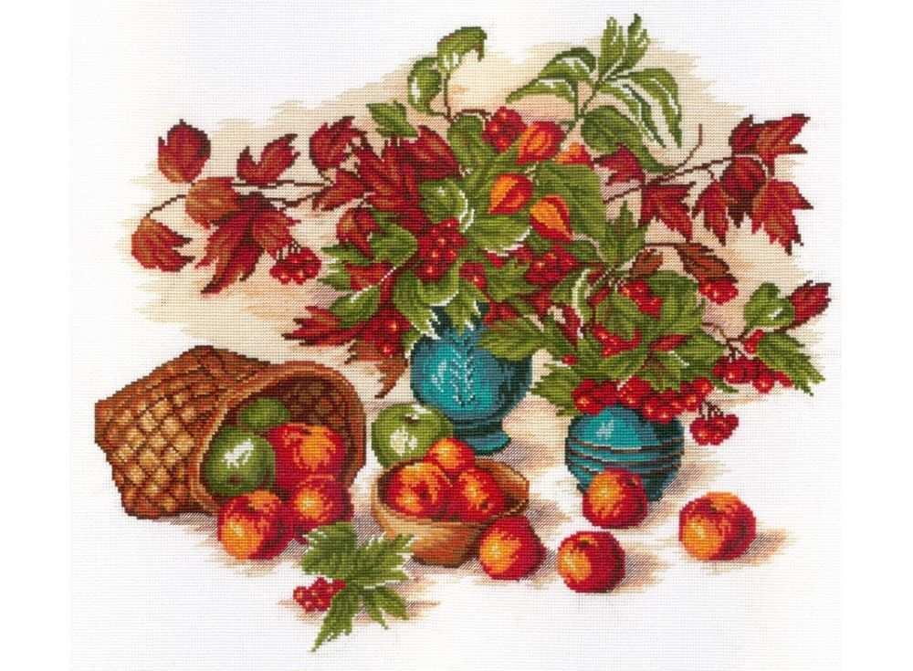 Набор для вышивания «Натюрморт с листьями»Вышивка крестом МП-студия<br><br>
