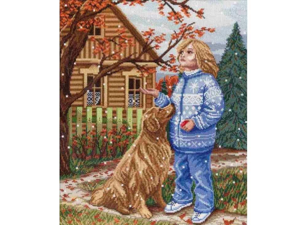Набор для вышивания «Первый снег»Вышивка крестом МП-студия<br><br><br>Артикул: НВ-348<br>Основа: канва Aida 18<br>Размер: 33x27 см<br>Техника вышивки: счетный крест<br>Тип схемы вышивки: Цветная схема<br>Цвет канвы: Белый<br>Количество цветов: 32<br>Рисунок на канве: не нанесён<br>Техника: Вышивка крестом